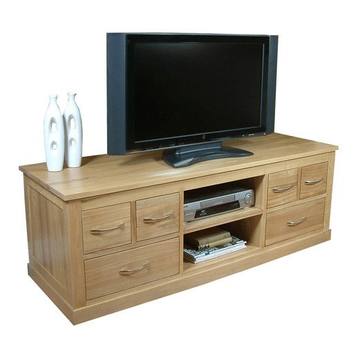 Mobel Oak Widescreen TV Cabinet