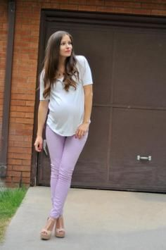 DIY Tutorial DIY Maternity Refashion / DIY Men's tee to loose top with gathered back (for maternity and non-maternity) - Bead&Cord