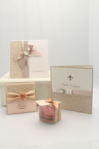 Pebble wedding stationery collection made from luxury papers, satin ribbons and jewels. Shop now at The Wedding & Flower Boutique.