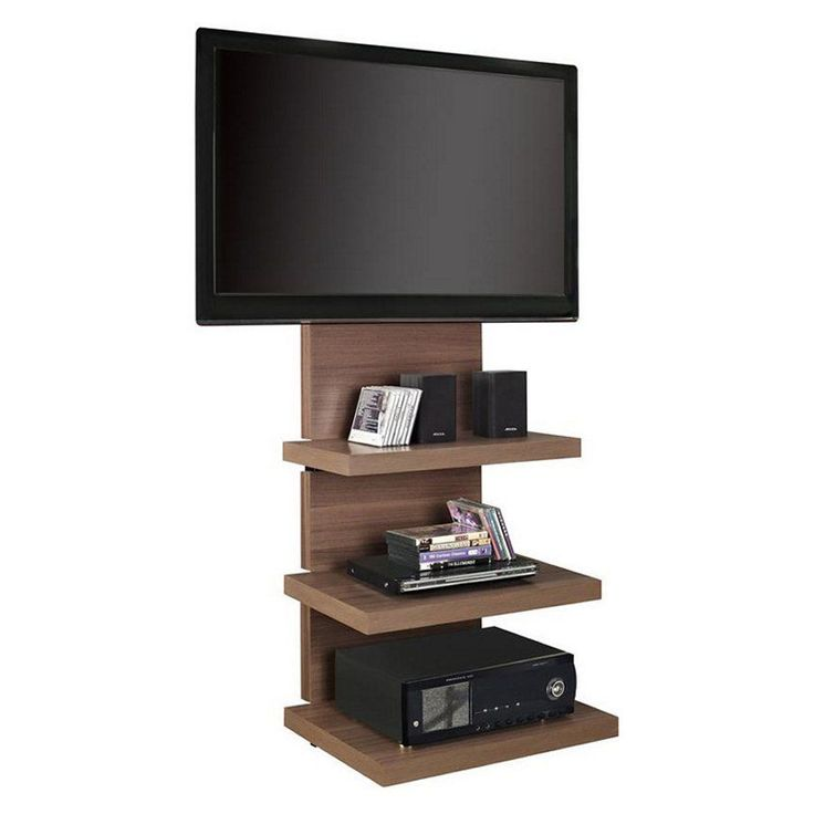 Tv Stand With Mount Flat Screen Tv Stand Up To 60 inches - Walnut Flat Tv Mount