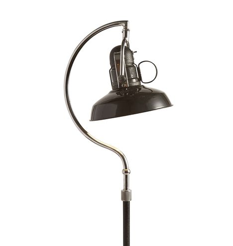 Articulating Floor Lamp w/ Matte Black and Nickel Finish
