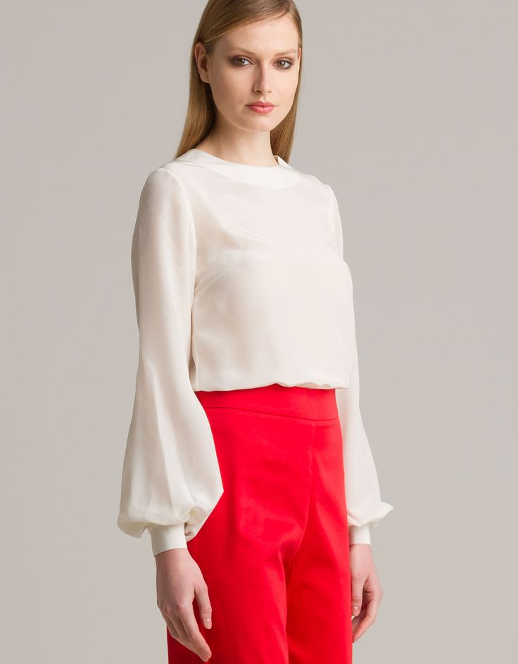 White blouse by Sara Mezzanotti for Maison Academia http://shop.maisonacademia.com/collections/spring-summer-2013/products/464-top