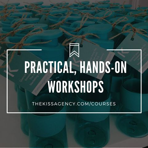 Register now for NEXT WEEK's practical, hands-on course: Social Media For Small Business 101.  Visit http://www.thekissagency.com/courses for more information.