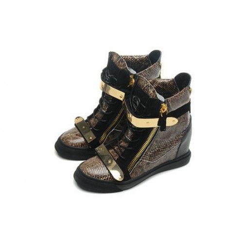 Giuseppe Zanotti Damen Sneakers Billige Schuhe Gold