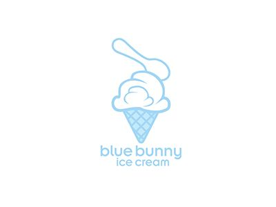 Blue Bunny Ice Cream Logo Design by SDPortfolioStudio