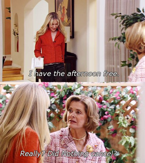 Image result for arrested development lucille and lindsay busy doing nothing
