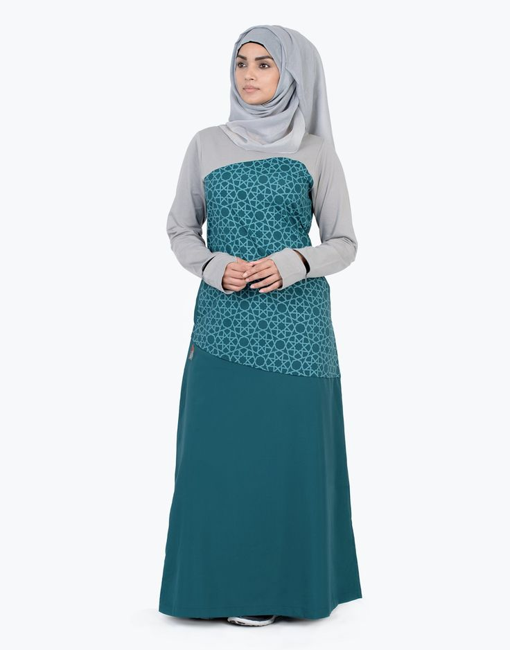 Teal Yourself | Route 01 - Silk Route Collection - Abayas & Jilbabs - WOMEN | IslamicDesignHouse.com