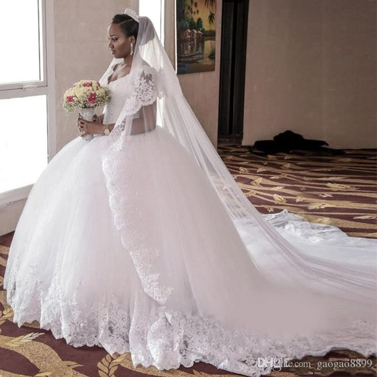 New cathedral train wedding dress