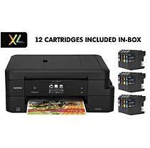 Brother MFC-J985DWXL Work Smart Copy/Fax/Print/Scan, 12 INKvestment Cartridges
