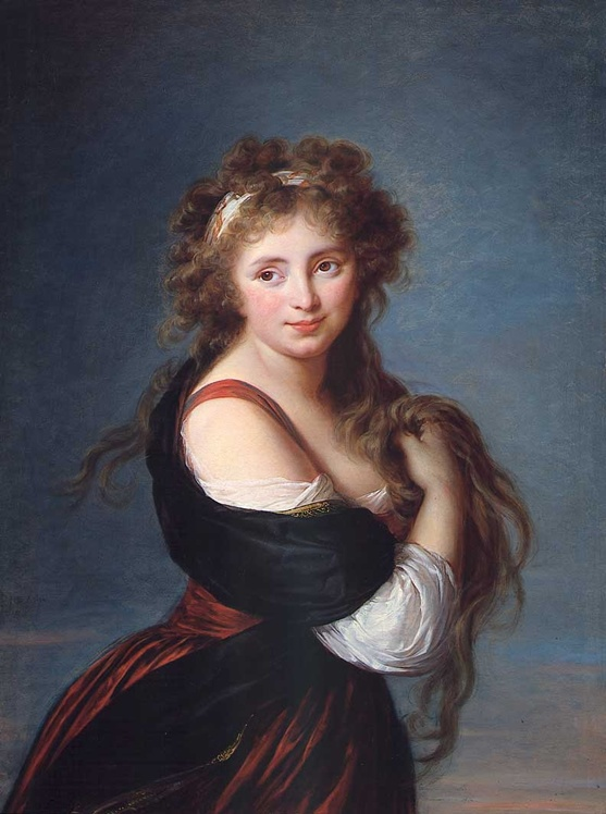 portrait of Hyacinthe Gabrielle Roland, Countess of Mornington,  signed, dated and inscribed L. Vigée le Brun/Roma 1791