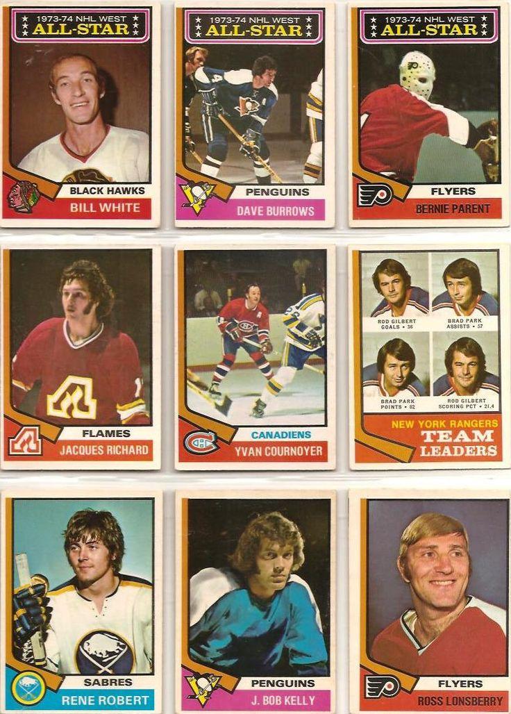 136-144 All Stars: Bill White, Dave Burrows, Bernie Parente. Jacques Richard, Yvan Cournoyer, Rangers Leaders, Rene Robert, J Bob Kelly, Ross Lonsberry