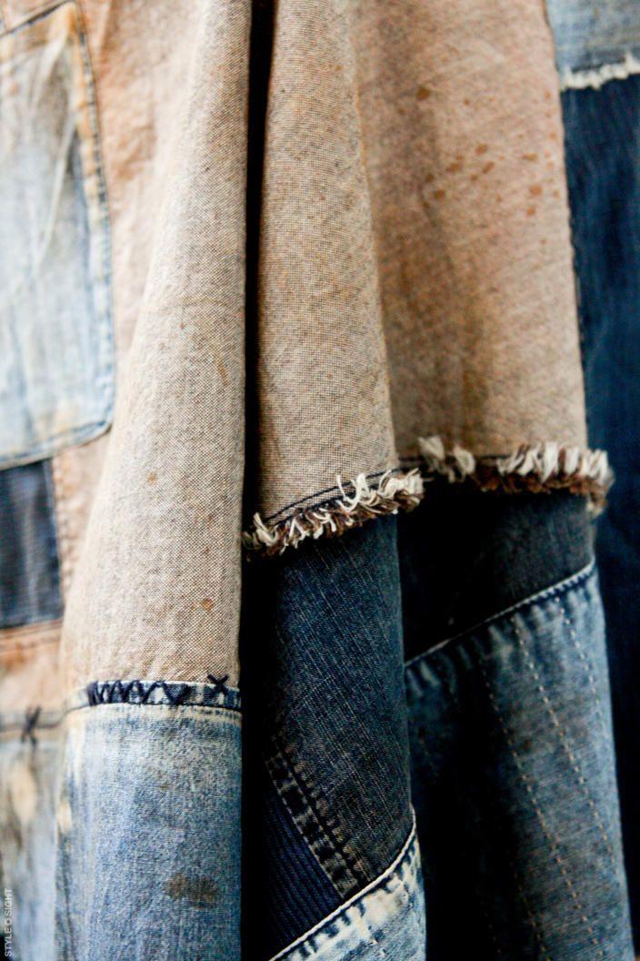 bleu-indigo:  fabrics work