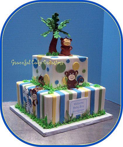 Safari Themed Baby Shower Cake