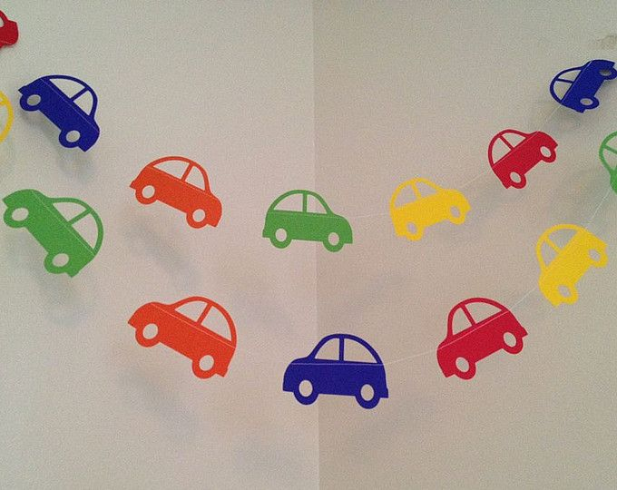 Transportation Birthday Party Decoration Car Paper Garland I am 1 Party Decoration Cars Themed Room Decoration Beep Zoom CUSTOM COLORS