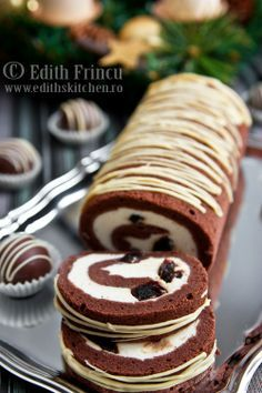 Roll with mascarpone cream
