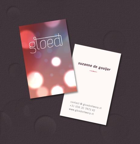 Gloednieuwe visitekaartjes voor mijn eigen huisstijl voor Gloed. (Designed by Gloed)