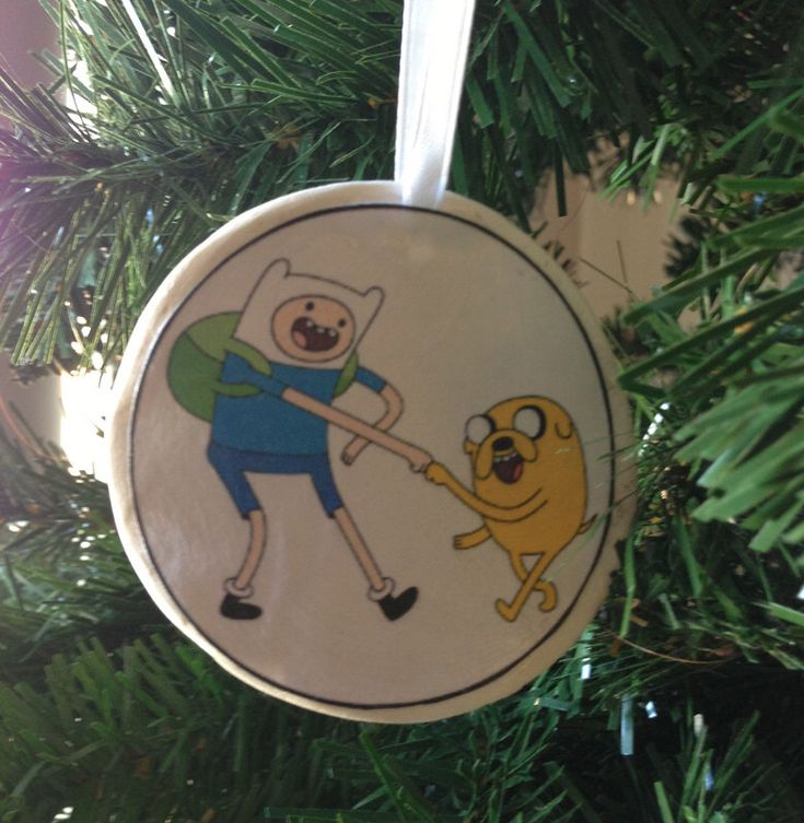 Adventure Time- Finn & Jake Ornament! by UberDorkDesigns on Etsy https://www.etsy.com/listing/172581559/adventure-time-finn-jake-ornament