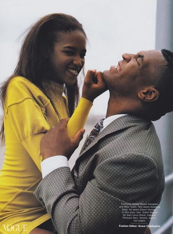 Naomi Campbell and Mike Tyson in Vogue, early 1990s : OldSchoolCelebs