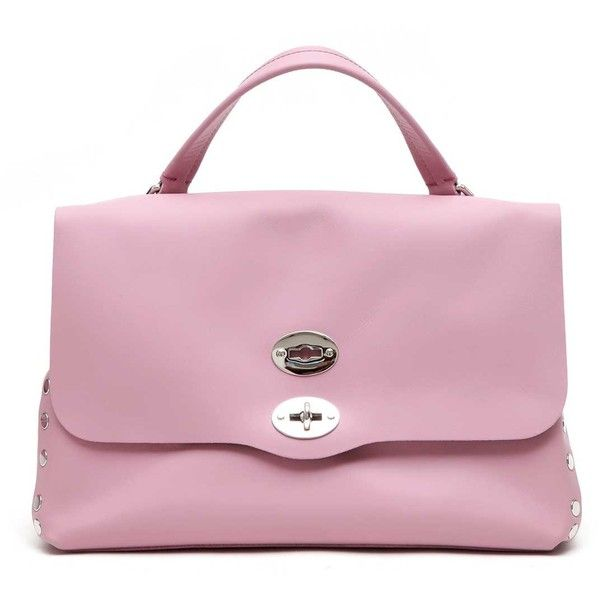 ZANELLATO 'Postina original silk' leather tote ($455) ❤ liked on Polyvore featuring bags, handbags, tote bags, leather handbag tote, handbags totes, pink tote, pink leather handbags and tote handbags