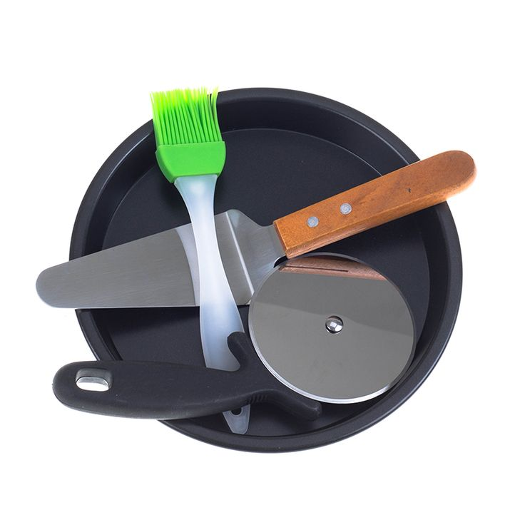 ==> [Free Shipping] Buy Best 4 in 1 Set Pizza 8 inches Carbon steel Baking Tray  Knife  Shovel Blade  Brush Pizza Bakeware Tools for Oven Online with LOWEST Price | 32791212248