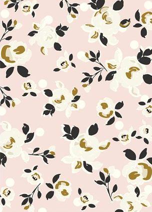 Caroline Gardner, floral, simple, colour, spring, gold, pink, mustard, repeat, pattern