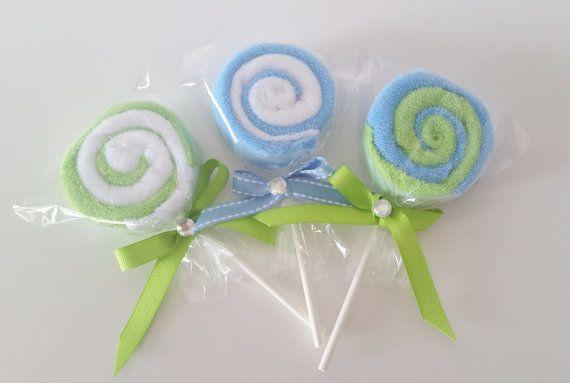 Washcloth Lollipops Baby Washcloth Gift Baby Boy Shower