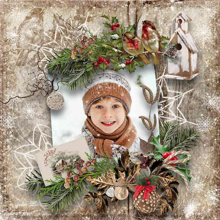 """Winters Frost"" by Fancy Bird Design  https://www.digitalscrapbookingstudio.com/collections/coordinated-collections/winters-frost/?features_hash=13-13"