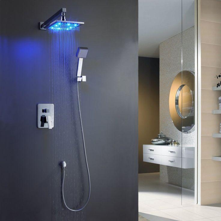 bathroom shower tile ideas luxury overhead wall mounted