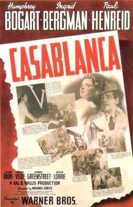 """Claude Rains: """"I like to think you killed a man, it's the romantic in me.""""Movie Posters, Classic Movie, Picture-Black Posters, Casablanca Movie, Casablanca 1942, Casablanca Events, Humphrey Bogart, Academy Awards, Favorite Movie"""