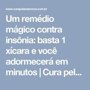 Um remédio mágico contra insônia: basta 1 xícara e você adormecerá em minutos | Cura pela Natureza