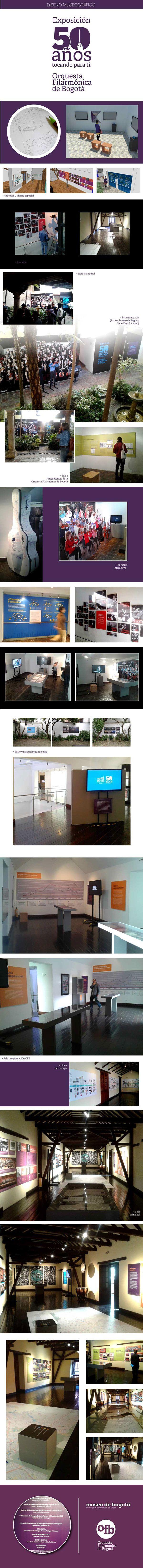 Diseño museográfico OFB 50 años. Museo de Bogotá