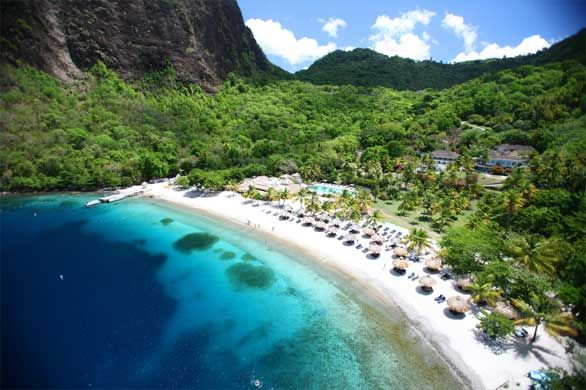 Sugar Beach,  St Lucia - Jalousie Bay. I can check this one off my list! BEEN THERE! :)