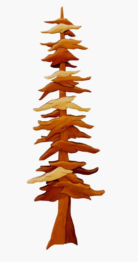 Intarsia Woodworking Pattern  PINE TREE by GielishWoodSculpture