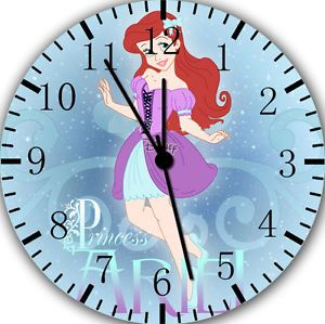 The Little Mermaid Clock | The-Little-Mermaid-Ariel-wall-Clock-10-nice-Gift-and-Room-wall-Decor ...