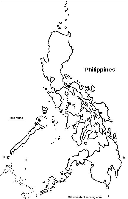outline map philippines class ideas pinterest philippines outlines and spanish speaking countries