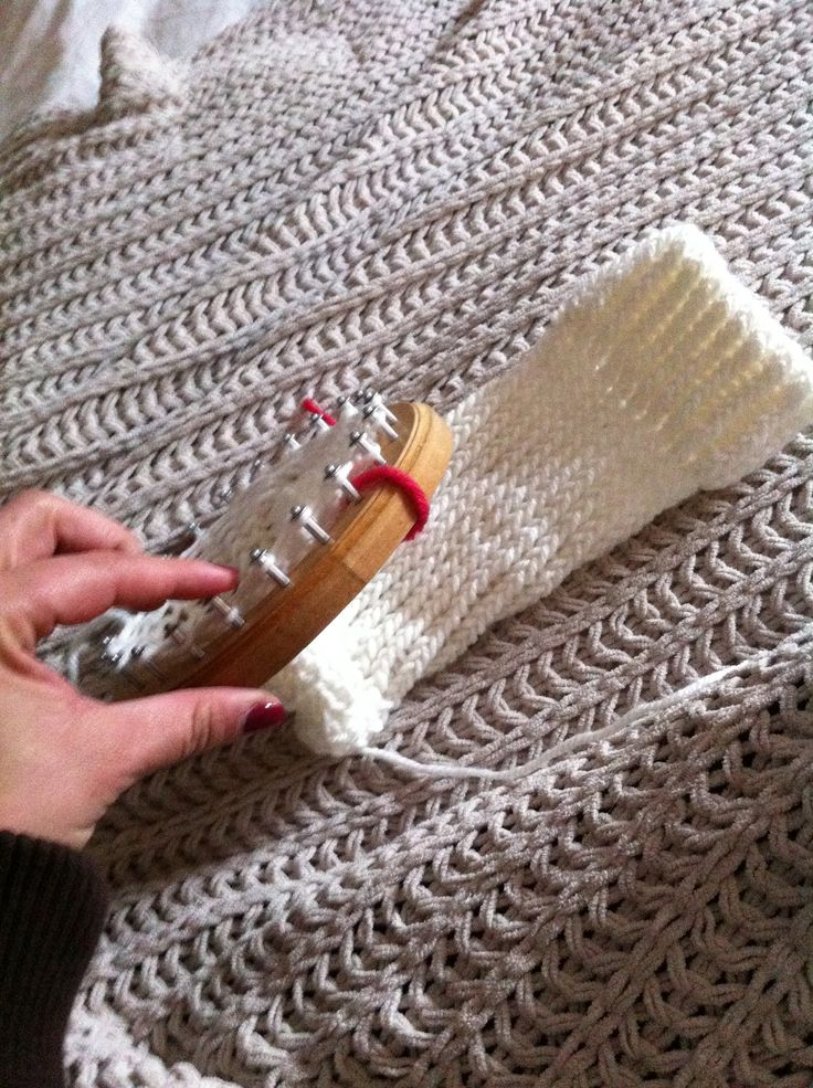 Mejores 76 im genes de telar circular en pinterest - Como hacer calcetines de lana ...