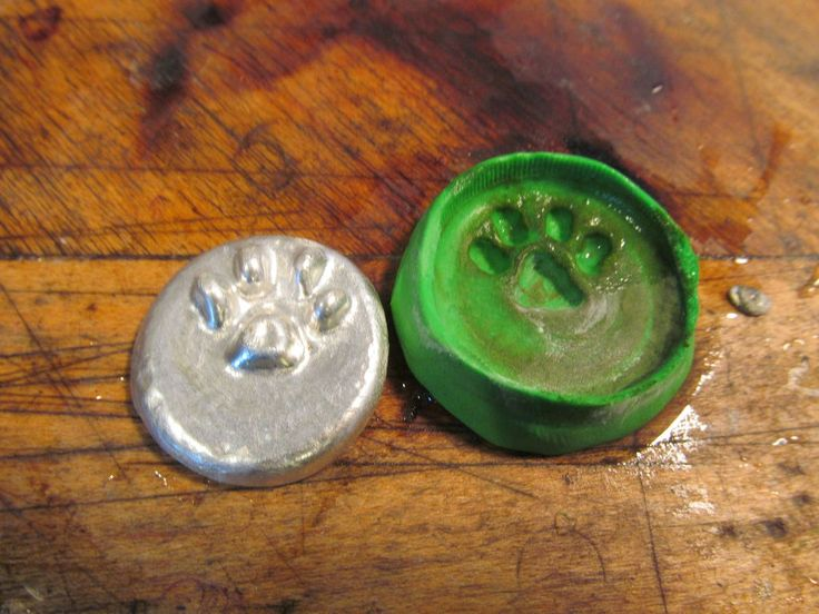 casting with lead-free solder. This guy used uncured poly clay for the mold.