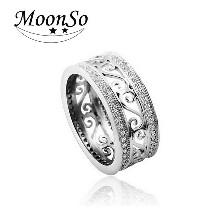 Moonso 925 sterling silver Zircon Wedding Ring //Price: $10.95 & FREE Shipping //     #fashion