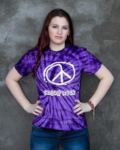 Spider Purple Tie Dye T-Shirt – Enjoy Weed Shack