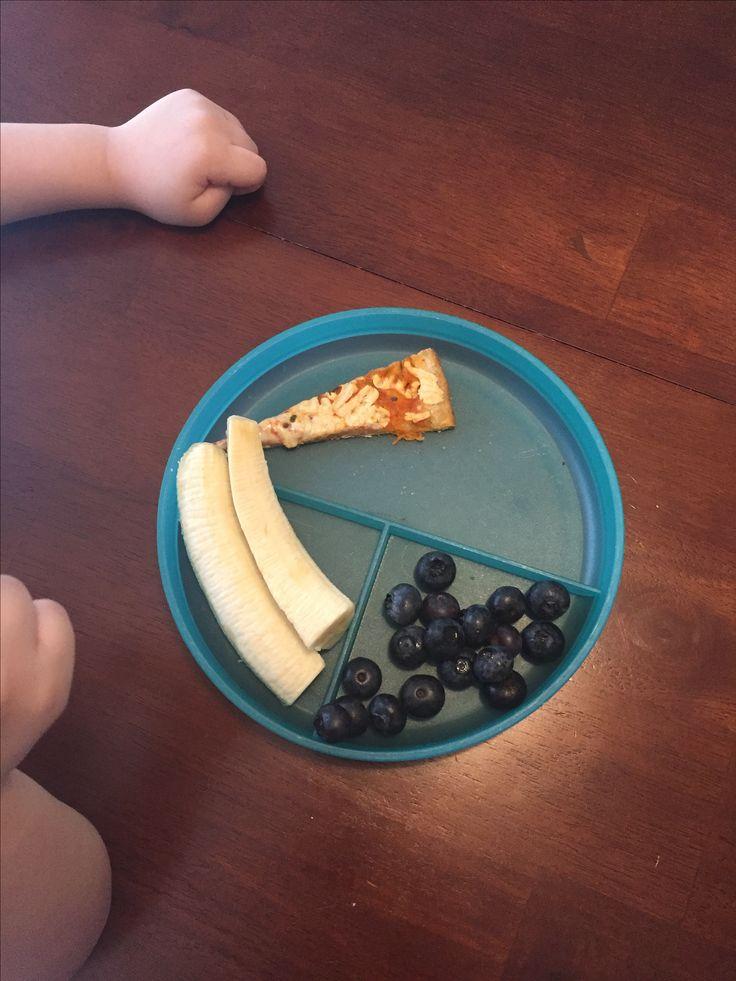Vegan Harvest Pizza, organic blueberries and banana