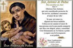 Oración a San Antonio de Padua para encontrar un amor  Santo Patrono de San Antonio de las Vegas-Feast Day June 23