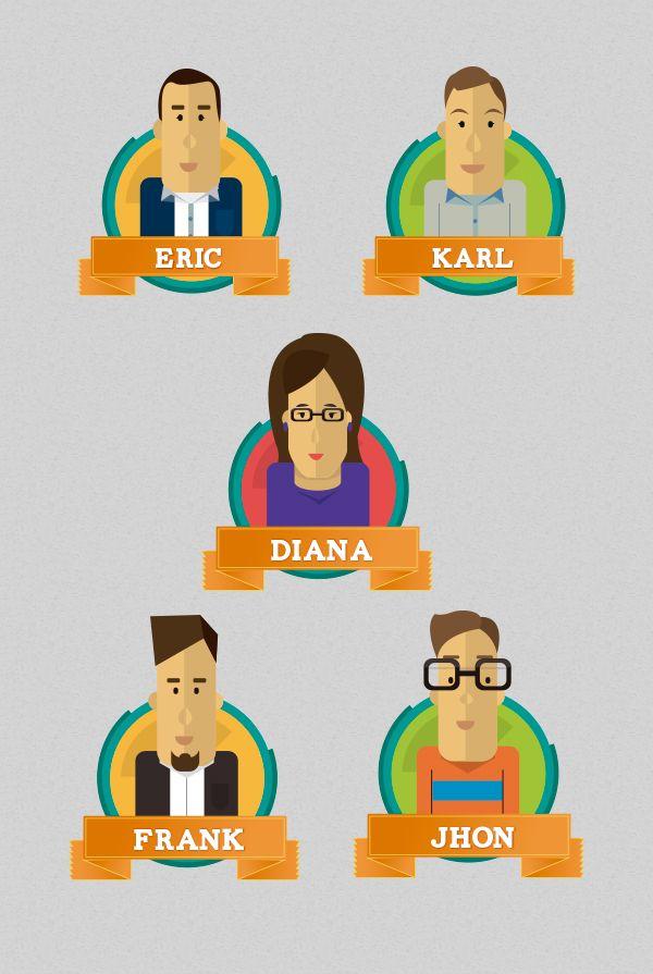 People by Liliana Ballén, via Behance