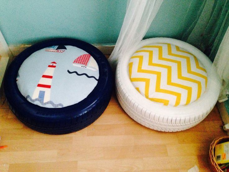 DIY KIDS TYRE SEATING | Grillo Designs