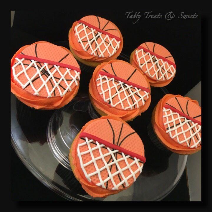 Basket Ball cupcakes #vanilla #buttercream
