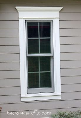 How to Use Trim to Update Exterior Doors and WIndows via www.TheKimSixFix.com