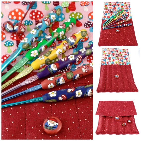 Crochet Hook Case with Set of Boye Crochet by polymerclayshed