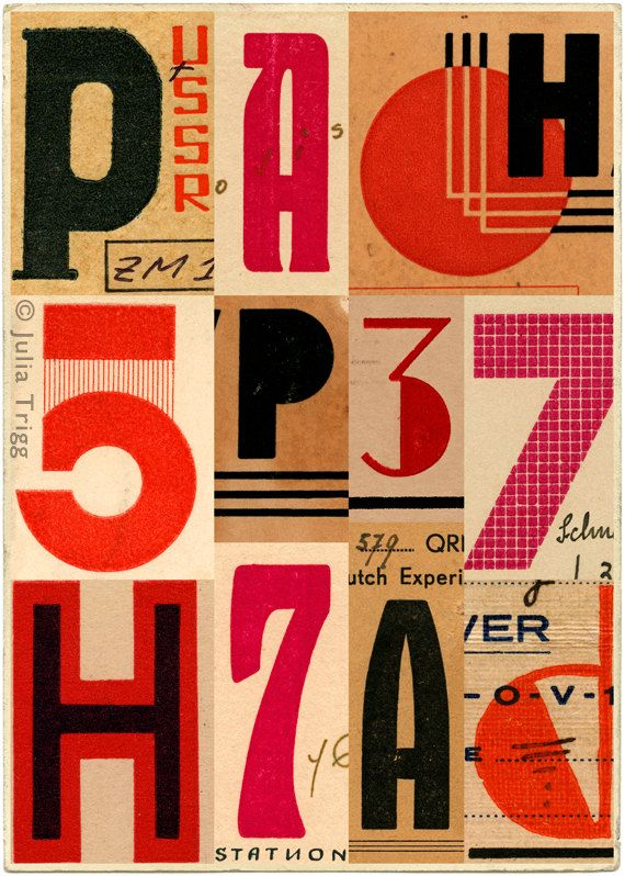USSR vintage type & Eastern bloc art. Russian art by JuliaTrigg