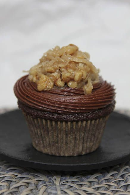 German Chocolate Cupcakes by Life Made Simple  http://stephenandnat.blogspot.com/2012/06/german-chocolate-cupcakes.html