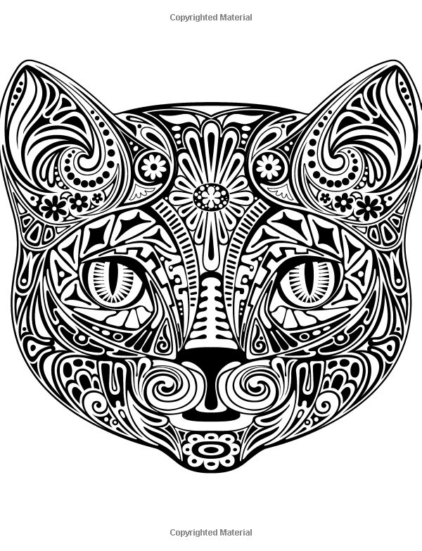 colorful cats 30 best stress relieving cats designs adult coloring books creative cats