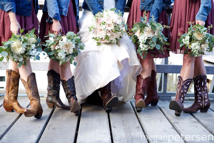 1000 ideas about bridesmaids cowboy boots on pinterest for Wedding dresses northern california